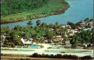 RUSKIN FL - TAMPA SOUTH KOA KAMPGROUND aerial view 1960s era / US #41