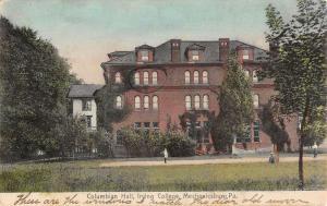 Mechanicsburg Pennsylvania Irving College Columbian Hall Postcard K104656
