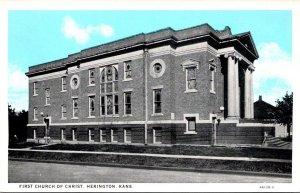 Kansas Herington First Church Of Christ Curteich