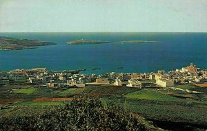 Malta St Paul's Bay Panoramic view Vilalge Postcard