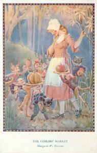 Fantasy Art Postcard Fairy Hours Series Margaret Tarrant, The Goblins' Market