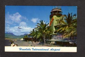 HI Honolulu International Airport Airplanes Aviation Hawaii Postcard Runway