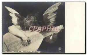 Old Postcard Firenze Gallen Dell ™ 39Uffizi angeolo Con liuto Rosso Fiorent...
