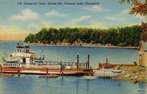 VT - Lake Champlain. Grand Isle, Roosevelt Ferry