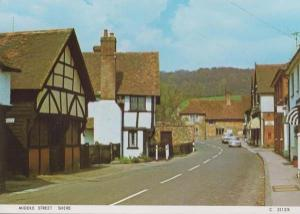 Middle Street Shere Surrey Shop Lyons Maid Ice Cream Sign 1970s Postcard