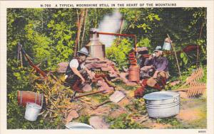 A Typical Moonshine Still In The Heart Of The Mountains