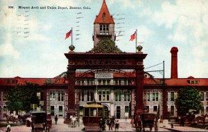 Colorado Denver Mizpah Arch and Union Station 1912