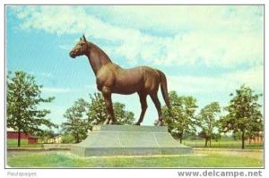 Man O´War Race Horse Statue, Faraway Farm, Lexington, Kentucky, KY,  Chrome