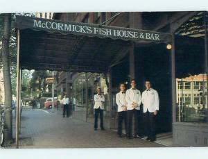 Unused Pre-1980 MCCORMICK'S FISH HOUSE RESTAURANT Seattle Washington WA r8877