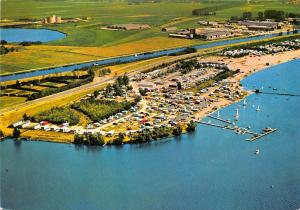 Netherlands Groeten uit Elburg Veluwe Strandbad Camping Aerial view