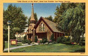 Nevada Las Vegas Little Church Of The West Hotel Last Frontier Curteich