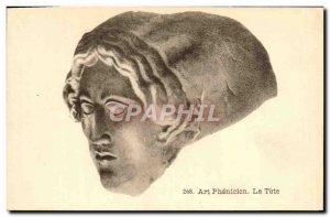 Old Postcard Art Phenicien La Tete