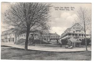 Delaware Water Gap PA Castle Inn Music Hall 1912 Doremus Cancel Hausers Postcard