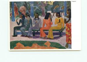 Postcard  Black Paul Gauguin Ta Matete Basel Kunstmuseum Switzerland     # 5066A
