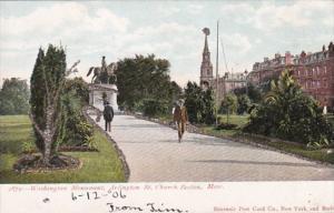 Massachusetts Boston Washington Monument 1906