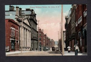 NB Prince William St St John New Brunswick Canada Carte Postale Postcard PC
