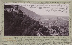 Gruss aus HEIDELBERG , Germany , PU-1902