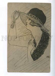 204750 RUSSIA Lady NUDE METAMORPHIC Art Nouveau old postcard