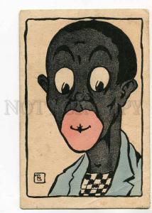 264817 BLACK Americana Man by TS old B.K.W.I. #753-4 Art Deco