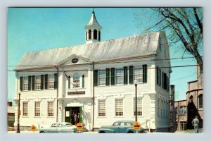 New London CT County Court House Law Library Chrome Connecticut Postcard