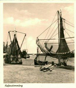 Vtg Postcard 1910s Nordseebad Hooksiel Germany 1910s Harbor Boats Tuning UNP