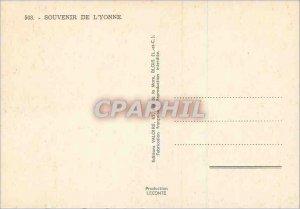 Modern Postcard Souvenir of Yonne Auxerre Avallon Sens Tonnerre Chablis Joigny