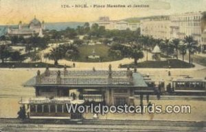 Place Massena et Jardins Nice, France, Carte, 1912