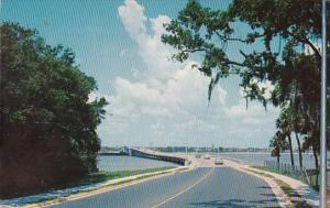 Florida Daytona Beach The New South Bridge Looking West Toward The Mainland 1966