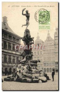 Old Postcard Antwerp Brabo Statue