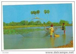 Thai farmer's fish farming, Thailand 50-70s