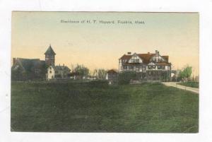 Residence Of H. T. Hayward,Franklin,Massachu setts,1909