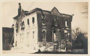 RP: WAHOO , Nebraska, 1900-10s ; Fire Damaged Building
