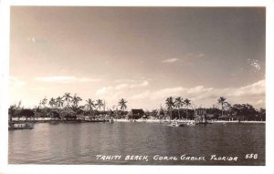 Coral Gables Florida Tahiti Beach Real Photo Vintage Postcard AA12306