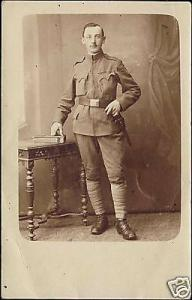 Unknown Soldier, Military, Probably WWI (ca. 1915) RPPC