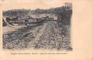 Brazil Cuiaba, Cuyaba (Matto-Grosso - Bresil) Ligne du tramway allant au port