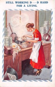 Washing Dishes Postal Used Unknown