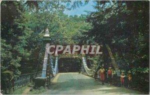 Old Postcard Suspension Bridge Millcreek Park Youngstown Ohio