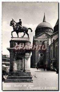 Modern Postcard Basilica Del Santo Padova e Monumento has Gattamelata