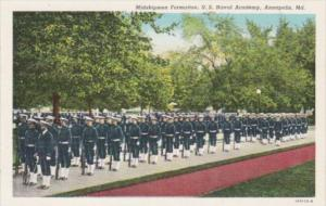Maryland Annapolis Midshipmen Formation United States Naval Academy Curteich
