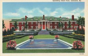 Postcard Spindletop Stock Farm Lexington Kentucky