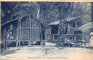 Gabon Ogooue, Village Ouroungou pres Falaba 1963
