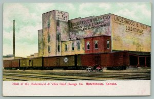 Hutchinson KS~Underwood & Viles Cold Storage Co Plant~Apple & Egg Dealer~1914 PC