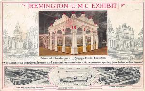 Pan-Am Exposition Remington Firearms Ammunition UMC Exhibit Postcard