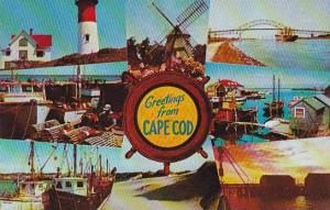 Massachusetts Cape Cod Light Houses Fishing Boat Boats Sand Dunes And Colorfu...