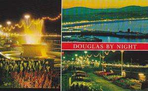 Douglas by Night, The Harbour and Bay, The Fountain, Promenade Gardens,Victor...
