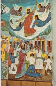 PORT AU PRINCE Haiti - Holy Trinity Cathedral ASCENSION  MURAL - portion 1950s