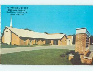 Pre-1980 CHURCH SCENE Des Moines Iowa IA p4339