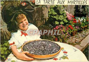 Modern Postcard Recipe for Blueberry Pie Folklore