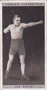 Ogdens Vintage Cigarette Card Pugilists In Action 1928 No 36 Joe Rolfe