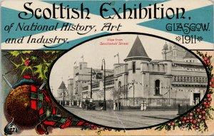 Scottish Exhibition Glasgow 1911 Scotland Sauchiehall Street Postcard G58